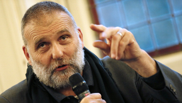 "Italian priest Paolo Dall?Oglio, expelled from Syria by Bashar al-Assad?s government in June takes part in a conference on the theme ""Syrian christians"" , on September 25, 2012 in Paris. After 30 years of running a monastery near Damascus, Dall?Oglio has reinvented himself since his departure as an unofficial diplomat for Assad's opponents, trying to create a united opposition. AFP PHOTO KENZO TRIBOUILLARD        (Photo credit should read KENZO TRIBOUILLARD/AFP/GettyImages)"
