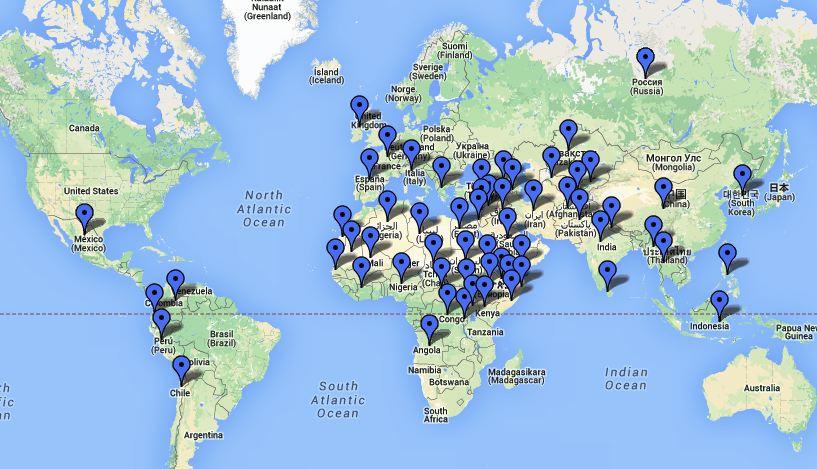 Cartina Geografica Dei Paesi Arabi.La Carta Geografica Per La Pace