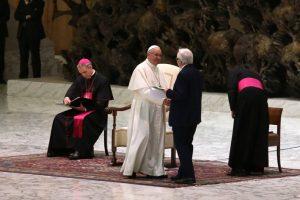 Saluto Flavio Lotti a Papa Francesco