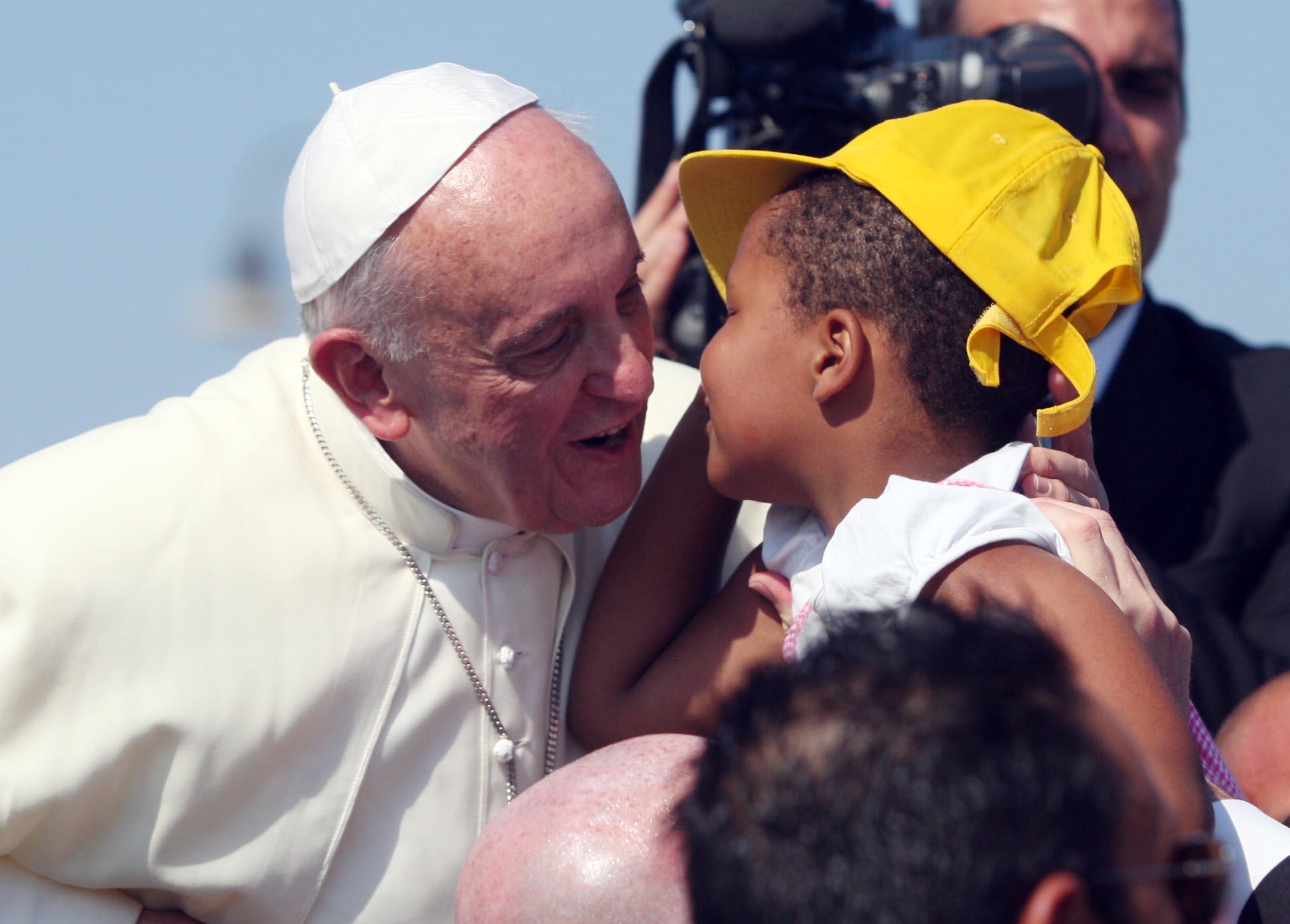 PALERMO 862013( FOTO PETYX PALERMO) Papa a Lampedusa