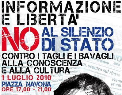 Domani 1° luglio a Roma contro tagli e bavagli!