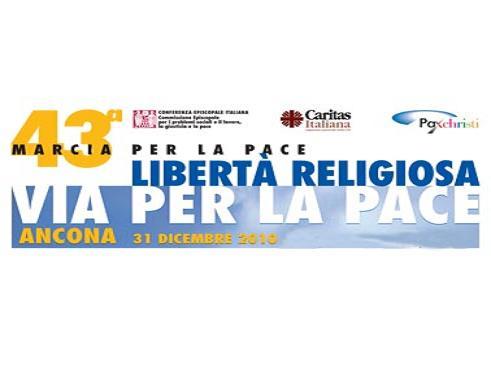 """Oggi la 43a Marcia per la Pace ad Ancona, """"Libertà religiosa, via per la pace"""""""