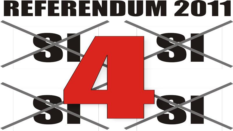 """Referendum: votiamo 4 """"Sì"""" contro ogni bavaglio e ogni illegittimo impedimento"""