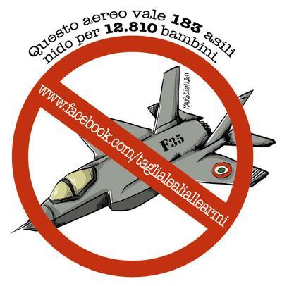 25 Febbraio aderisci alla giornata contro gli F35!