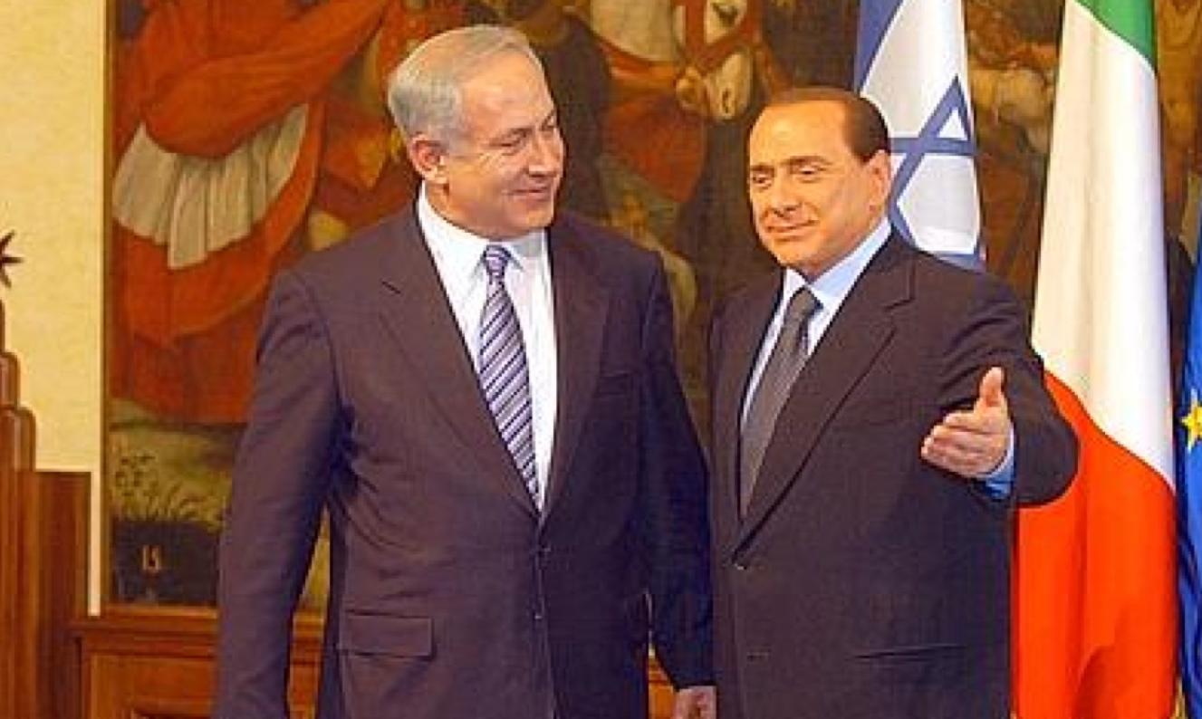 Idillio Netanyahu-Berlusconi «Palestina sì ma senza armi»