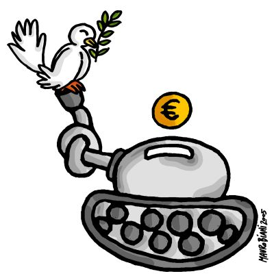 Banche armate: UBI Banca al top nell'export di armi italiane