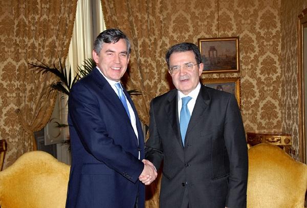 """Prodi scrive a Brown: """"Col Dpef un passo avanti verso gli Obiettivi del millennio"""""""