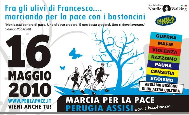 Fra gli ulivi di Francesco.... marciando per la pace con i bastoncini!