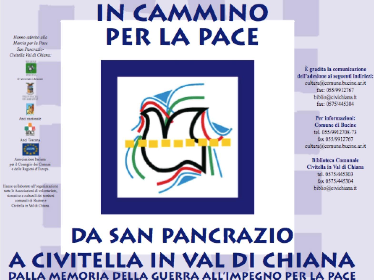 Oggi in cammino per la pace da San Pancrazio a Civitella in Val di Chiana