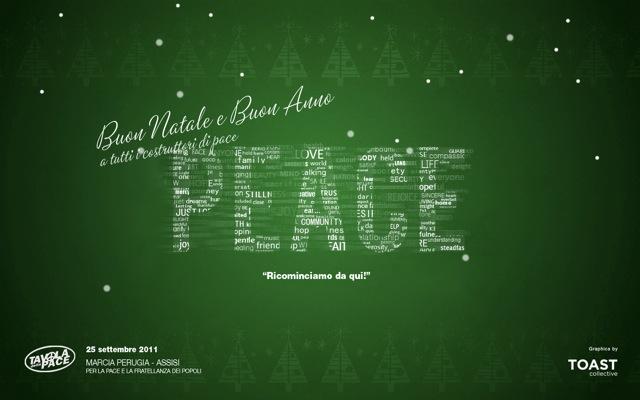 Auguri a tutti i costruttori di pace
