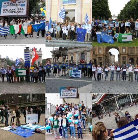 La Grecia siamo noi! Siamo tutti europei!